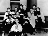 Boys Town Choir Rehearsing for their Easter Week Appearance on CBS Radio Posters
