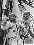 Cosmonauts Aleksey Leonov (Left) and Valeriy Kubasov before the Apollo-Soyuz Launch Photo