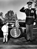 John F Kennedy Jr Look Up at Sgt Photographic Print