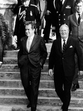 Pres Richard Nixon and British Prime Minister Edward Heath, Hamilton, Bermuda, Dec 21, 1971 Prints