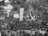 Iranian Demonstrators Protest Against the British Government in 1951 Posters