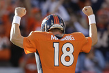 Tampa Bay Buccaneers and Denver Broncos NFL: Peyton Manning Print by Joe Mahoney