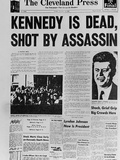 Kennedy Assassination Headline Fotografie-Druck