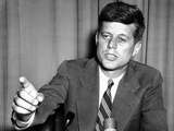 Sen John Kennedy after Making a Foreign Policy Speech in the Senate Photographic Print