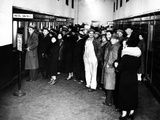 Detroit Businessmen Seeking Cash to Carry on Business at the Post Office During the Bank Holiday Photographic Print