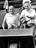 Vice President Spiro Agnew and Comedian Bob Hope in a Golf Cart Posters