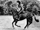 Jacqueline Kennedy, Riding a Horse in Waterford, Ireland, Jun 16, 1967 Photo