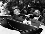 President Franklin Roosevelt, Debonair with His Cigarette Holder Photographic Print
