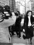 Jacqueline Kennedy Onassis Arrives at New York's Federal Court Posters