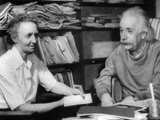 Madame Joliot-Curie Visits of Albert Einstein Photo