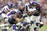 Minnesota Vikings and Houston Texans NFL: Adrian Peterson and Connor Barwin Photographic Print by Patric Schneider