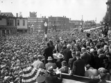 Democratic Presidential Candidate, Franklin Roosevelt, Speaks to Crowd of 10,000, Butte, Montana Photo