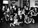Pres Franklin and Eleanor Roosevelt with Grandchildren at His Fourth Inauguration, Jan 20, 1945 Photographic Print
