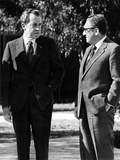 Pres Richard Nixon with His National Security Adviser, Henry Kissinger, Jan 14, 1973 Photographic Print