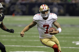 New Orleans Saints and San Francisco 49ers NFL: Colin Kaepernick Fotografisk trykk av Bill Haber