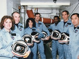Challenger Crew in Training before their Tragic Space Shuttle Mission Posters