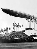 The Hindenburg, Flying Low in Salute of the Nazi Hosts of the Nuremberg Congress Photographic Print