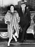 Pres Lyndon and Lady Bird Johnson Arrive at National City Christian Church for Service, Jan 8, 1967 Poster