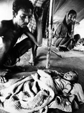 Father&#39;s Vigil over His Dying Son in a Refugee Camp During the Bangladesh Liberation War in 1971 Photographic Print