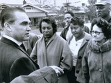 Alabama Gov George Wallace Talks to Residents of an African American Neighborhood That Was Bombed Photographic Print
