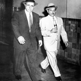 Albert Anastasia (Left) Leaves Federal District Court with His Attorney, Anthony Colendra Posters