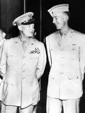 General Dwight Eisenhower Smiles at His Son, First Lieutenant John Sheldon Eisenhower Photo