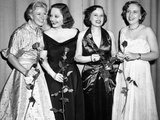 Margaret Truman, President's Daughter, with Actress Tallulah Bankhead and Singer Lucienne Boyer Photographic Print