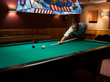 Pres Barack Obama Plays Game of Pool Following Conclusion of G8 Summit, Camp David, May 19, 2012 Photographic Print