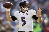San Diego Chargers and Baltimore Ravens NFL: Joe Flacco Photographic Print by Gregory Bull
