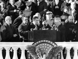 FDR's 3rd Term Vice Pres, Henry Wallace Takes Oath of Office from Outgoing VP, John Nance Garner Photographic Print