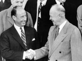 President Eisenhower Shakes Hands with His Rival for the Presidency Photographic Print