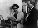 Hannah Arendt with a Fellow Reporter Photo