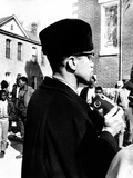 Malcolm X Visits the Voting Rights Protest in Selma, Alabama Photographic Print
