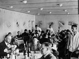 Dining 2,000 Feet in the Air on the Hindenburg with Wine on Every Table Photographic Print