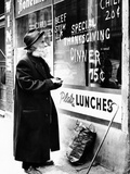 Chicago Homeless Man on Thanksgiving, 1952 Photographic Print