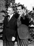 Presidents Richard Nixon and Georges Pompidou of France Meeting at Angra Do Heroismo, Azores Photographic Print