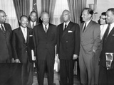 President Eisenhower Meets with African American Leaders Photographic Print