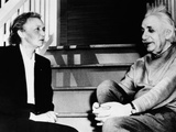 Madame Joliot-Curie and Albert Einstein Photo