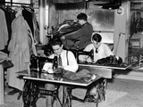 Boys Town Citizens Learned Tailoring as a Trade at Boys Town, 1944 Print