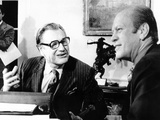 President Gerald Ford Meets with Newly Installed Vice President Nelson Rockefeller Photographic Print