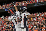 Denver Broncos and Kansas City Chiefs NFL: Demaryius Thomas and Brandon Stokley Photographic Print by Charlie Riedel