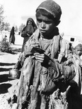 Afghan Youngster in a UNICEF Feeding Line in Chakcharan, Ghor Province Print