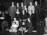 Franklin Roosevelt Family on Christmas Day, 1932 Photographic Print