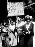 International Ladies Garment Workers Union Strikers Picket Two Shops in Philadelphia Photographic Print