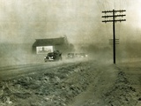 Dust Storms Near Lawrence, Kansas are a Hazard for Motorists and Disaster for Farmers, Mar 27, 1950 Prints