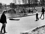 A Student Lies Dead at Kent State University Photographic Print