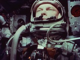 Astronaut John Glenn in Earth Orbit Photographic Print