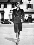 Wartime Suit for Women in Defense Work by Hollywood Designer 'Irene' Lentz Photo