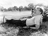 President Jimmy Carter Relaxing During a Softball Game in Plains, Georgia Photo