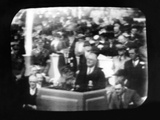 Television Broadcast Image of Pres Franklin Roosevelt at Opening Ceremonies at New York Worlds Fair Photographic Print